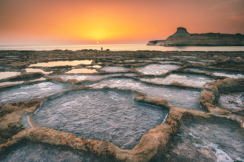 Xwejni Salt Pans Sunrise
