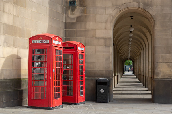 Red Telephone boxes, Manchester.