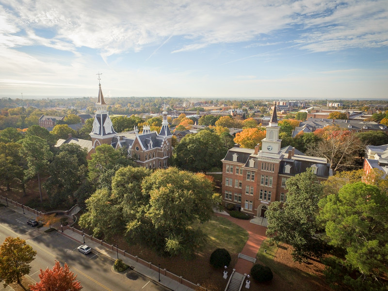 Aerial view of Mercer Campus