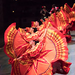 Dancers in an old traditional Mexican dress.