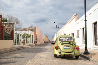City view of Valladolid, Mexico.