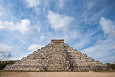 Chichen Itza during early morning.