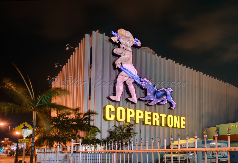 Little Miss Coppertone Sign