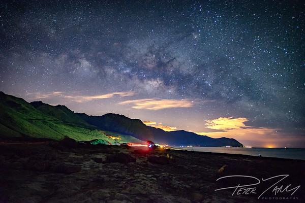 Milky Way over the Waianea Mountains