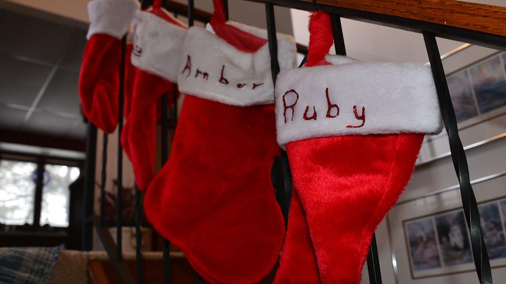 Ruby's xmas stocking.