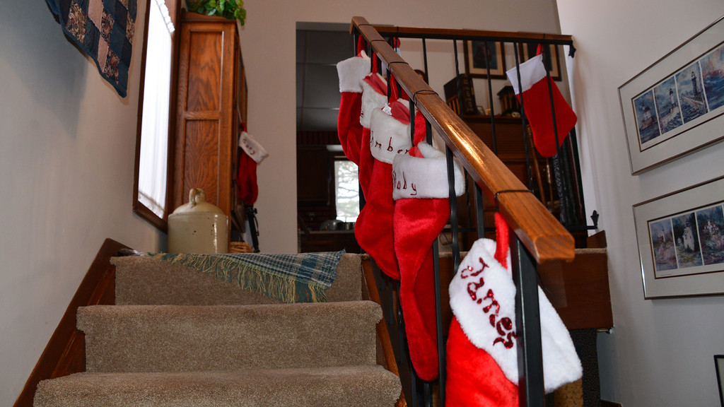 The stocking were hung...