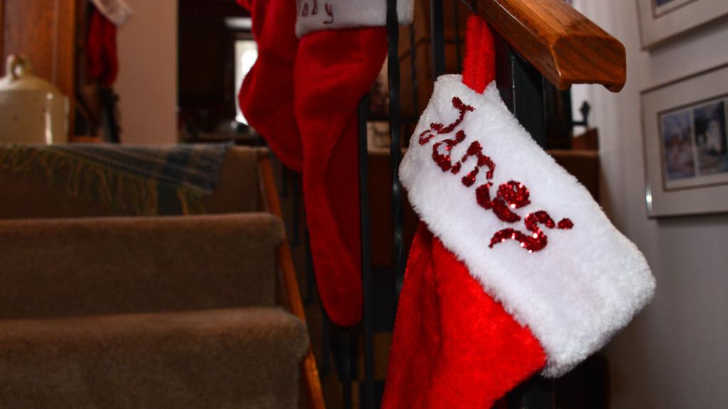James' xmas stocking.