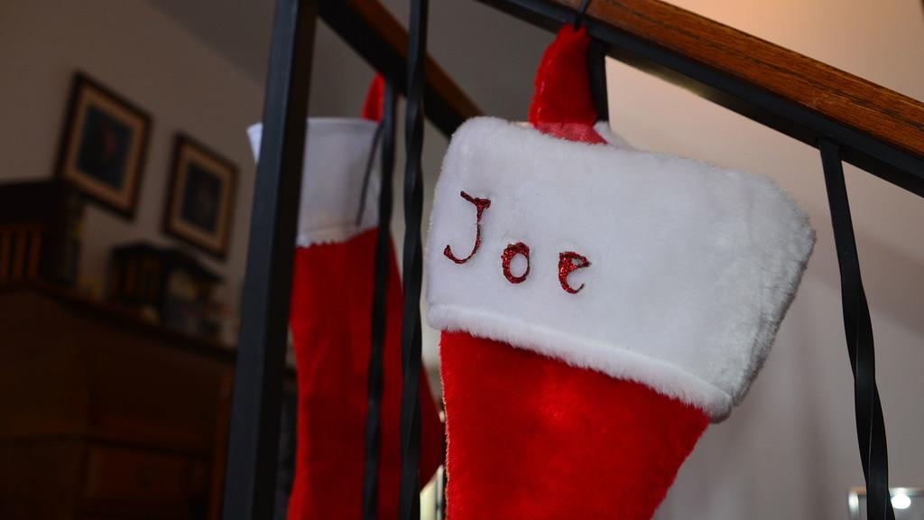 Joe's xmas stocking.