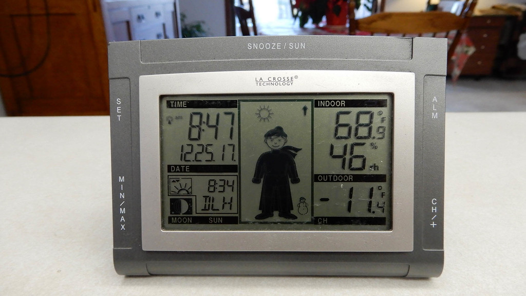 2 degrees colder than Mars