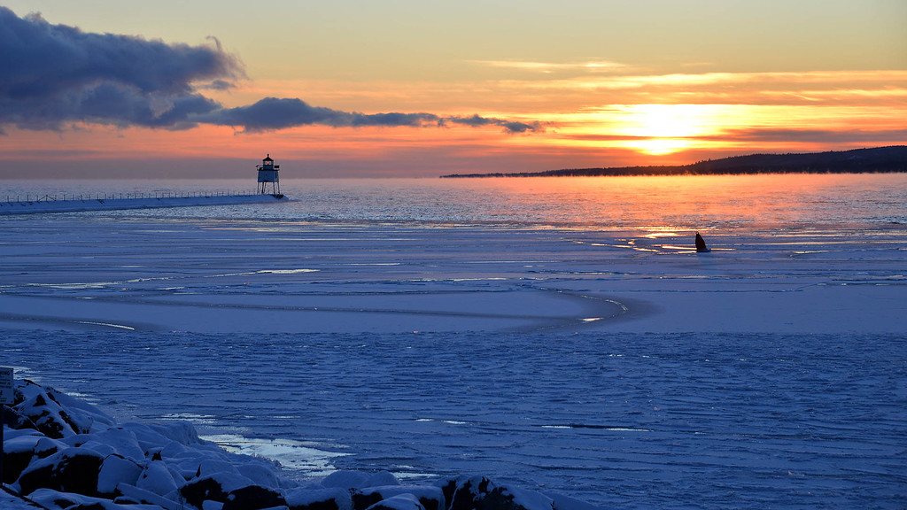 Two Harbors sunset.