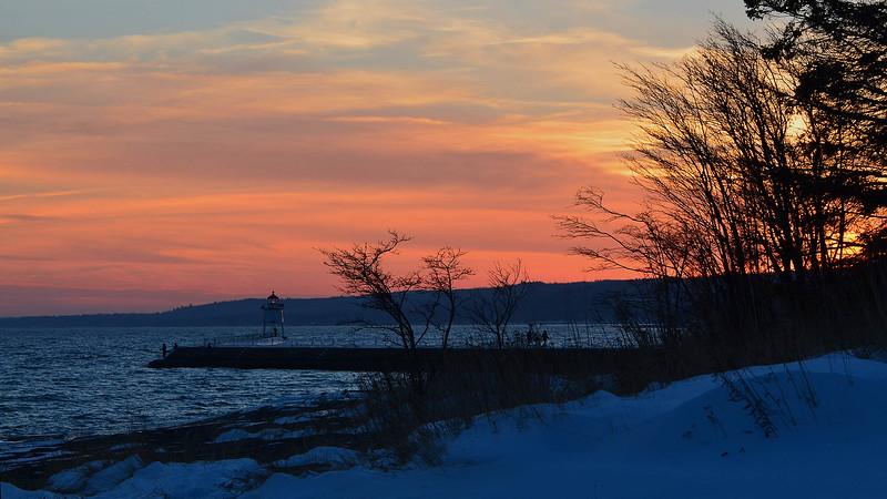 Breakwall sunset