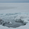 Lake Superior frozen over.