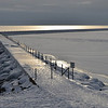 A Winter's eve. Two Harbors Breakwall.