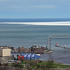 Aerial Lift Bridge & ice May 15, 2014 In Duluth, MN