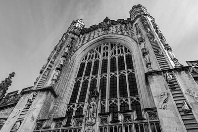 Bath Abbey Black and White