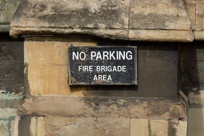 No Parking Fire Brigade Only Sign