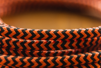 Orange Braided Cable
