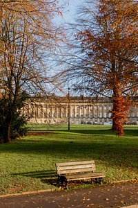 Bench at the Royal Cresent in Bath