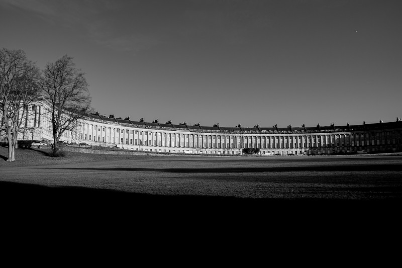 The Royal Crescent Black and White
