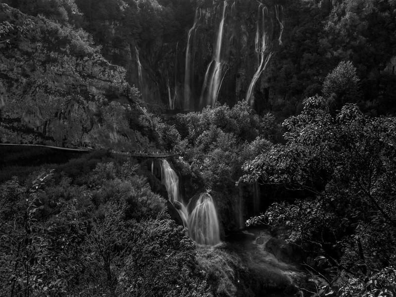 Waterfalls at Plitvice Lakes National Park in Croatia