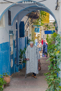 Morning walk to the local market, Tangier