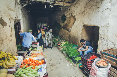 Vegetable sellers the medina of Fes