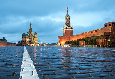 View of Red Square at dawn.