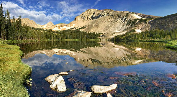 Blue Lake Reflections