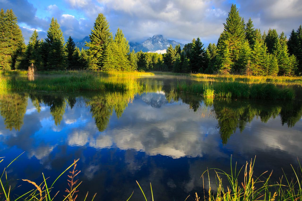 Grand Teton and water