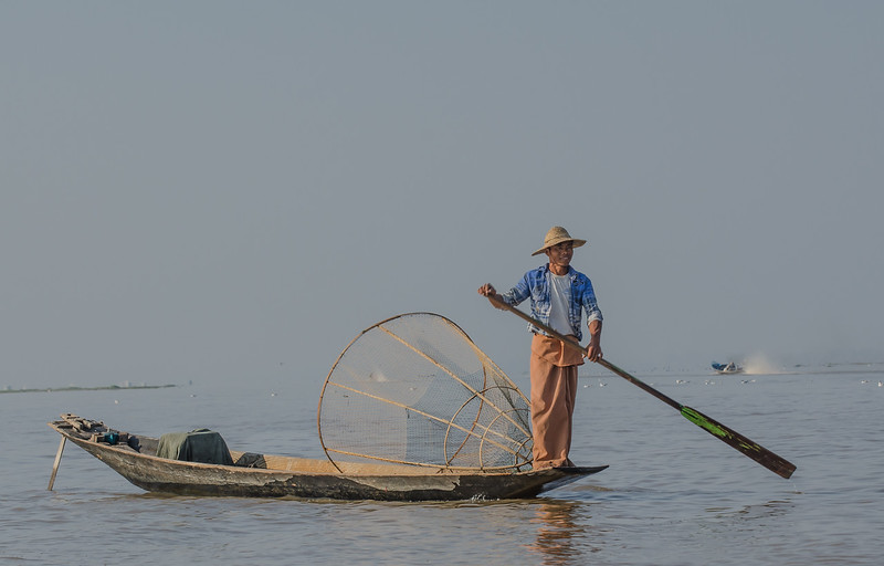 Local Intha (sons of the lake) fisherman