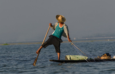 Young fisherman, Inle lake