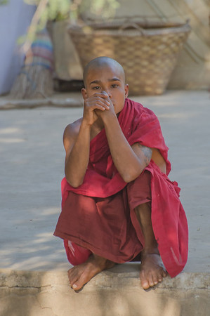 Young monk in Bagaya Monastery