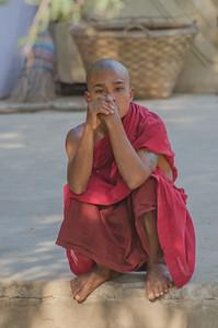 Young monk in Bagaya Monastery