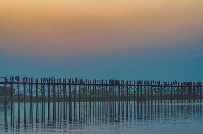 Blue hour in U Pein Bridge