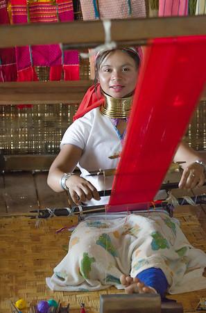 Kayah Lahwi woman in her workshop