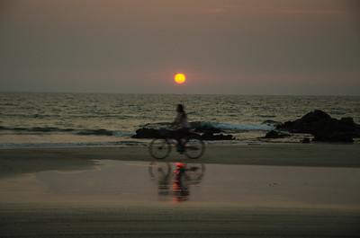Sunset at Ngwesaung beach