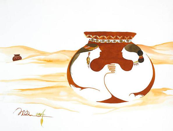 """wedding vows // 18""""x24"""" / watercolor / <br /> original SOLD / gicllee` $250.00"""