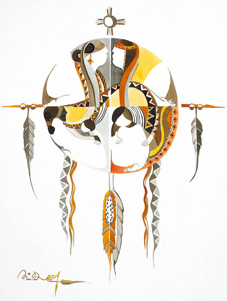 "dream catcher // 18""x24"" / watercolor <br /> original $1,200.00 / gicllee` $250.00"