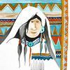 "navajo woman // 11""x14"" / watercolor<br /> original $400.00 / gicllee`  $100.00"