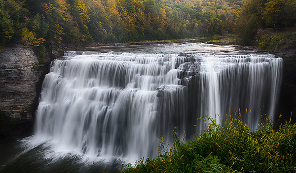 Letchworth State Park Upper Falls (a.k.a Grand Canyon of the East) - New York State