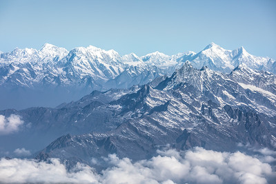Daylight view of Everest range.