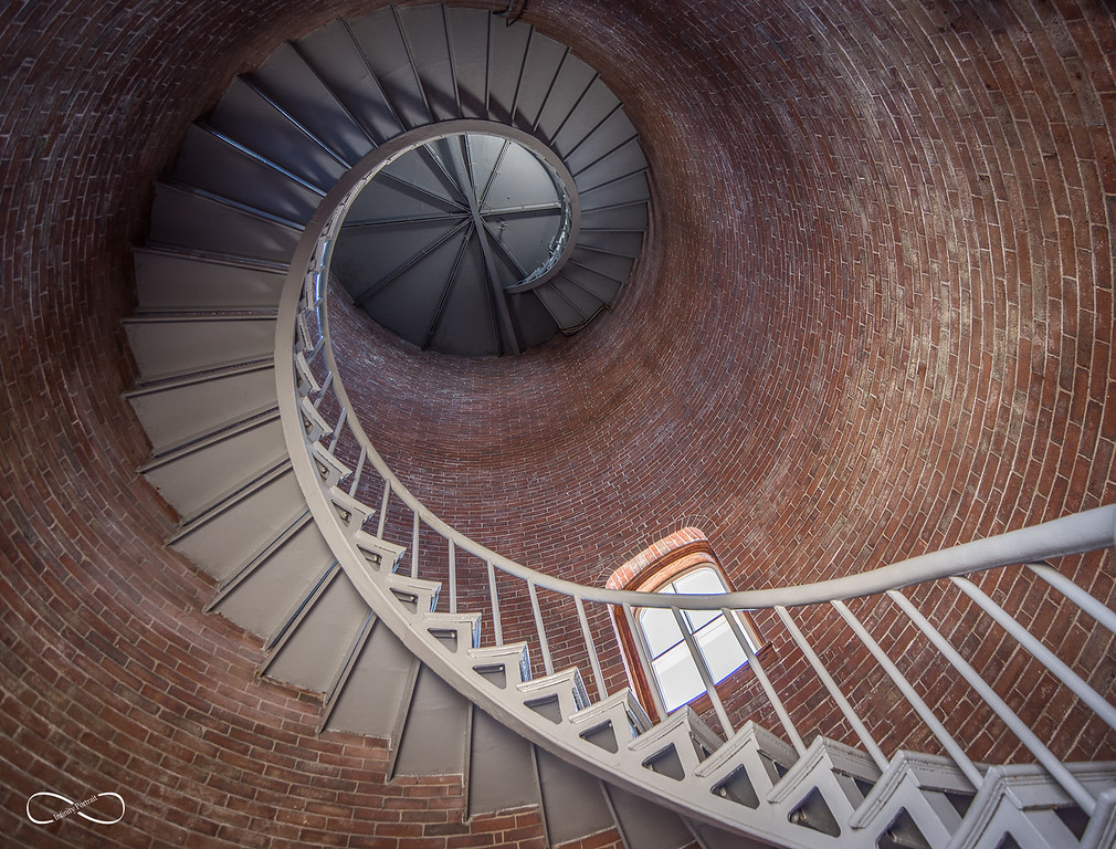Portsmouth Head Lighthouse staircase 6.27,17