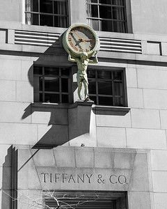 Atlas Clock at Tiffany and Company