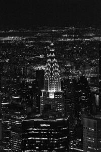 Night shot of the Chrysler Building