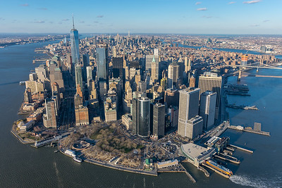 Lower Manhattan Aerial View