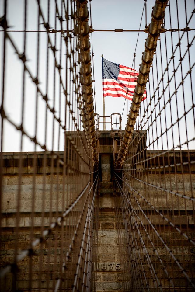 Brooklyn bridge à New York.