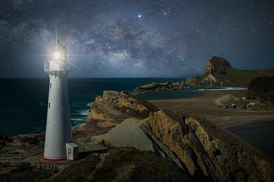 New Zealand, North Island: Castlepoint Lighthouse