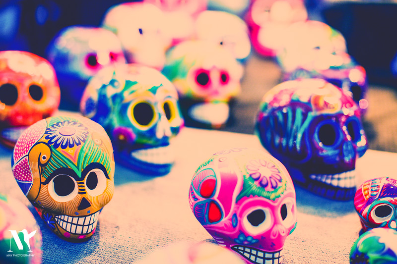 SKULLS IN COLOR