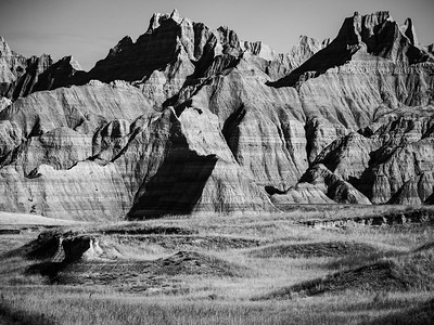 Badlands in Light & Shadow