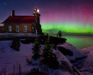 Aurora Over Eagle Harbor